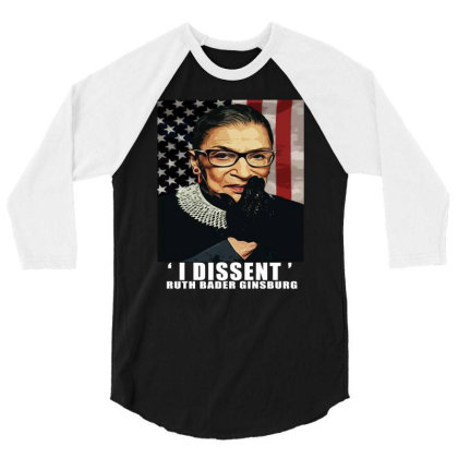 Notorious R.b.g. Funny Progressive, Liberal Ruth Bader Ginsburg 3/4 Sleeve Shirt Designed By Alparslan Acar
