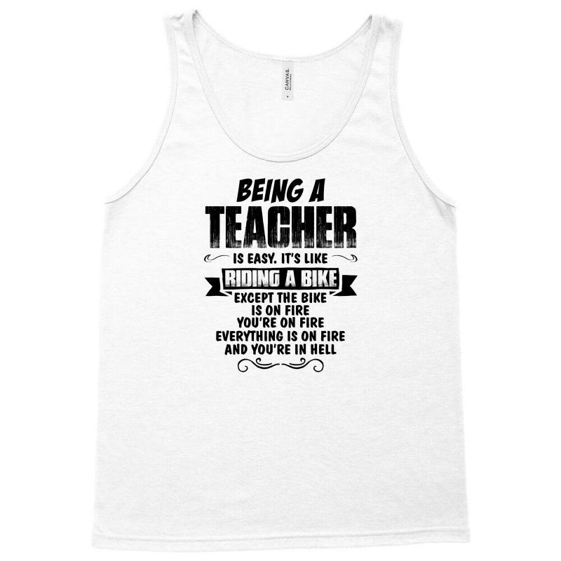 Being A Teacher Copy Tank Top   Artistshot