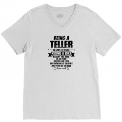 being a teller copy V-Neck Tee | Artistshot