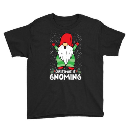 Christmas Is Gnoming Youth Tee Designed By Badaudesign