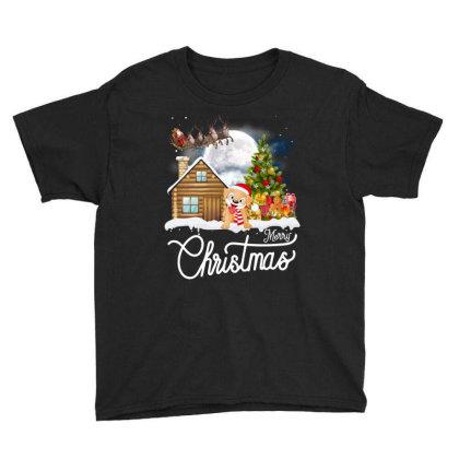 Merry Christmas Dog Youth Tee Designed By Badaudesign