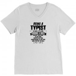 being a typist copy V-Neck Tee | Artistshot