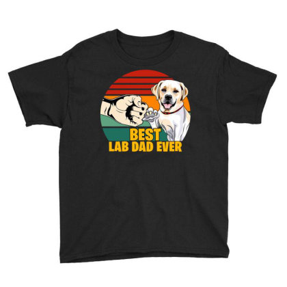 Best Lab Dad Ever Youth Tee Designed By Badaudesign