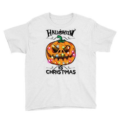 Halloween Is Christmas Youth Tee Designed By Badaudesign