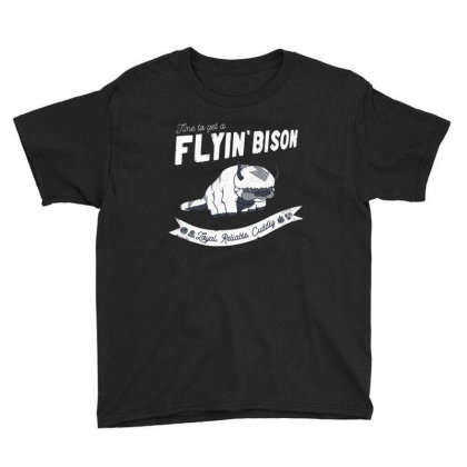 Get A Flyin Bison Youth Tee Designed By Ballard