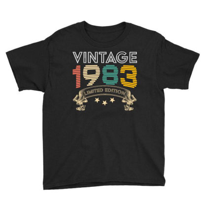 Vintage 1983 Limited Edition Youth Tee Designed By Badaudesign