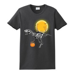 Rex Halloween Ladies Classic T-shirt Designed By Badaudesign