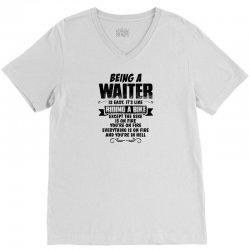 being a waiter copy V-Neck Tee   Artistshot