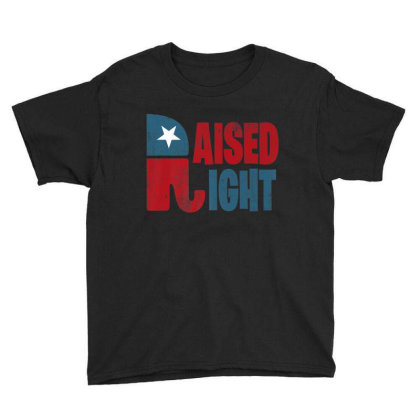 Raised Right Republican Elephant Youth Tee Designed By Kakashop