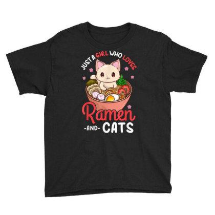 Ramen Cat Neko Anime Kawaii Otaku Youth Tee Designed By Kakashop