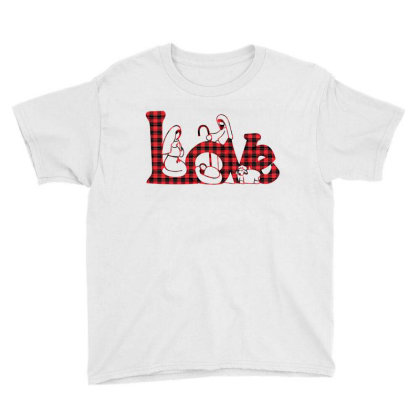 Love Jesus Christmas Youth Tee Designed By Badaudesign