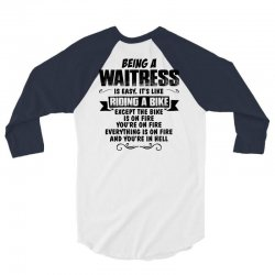 being a waitress copy 3/4 Sleeve Shirt | Artistshot