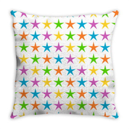 Rainbow Star Throw Pillow Designed By Chiks