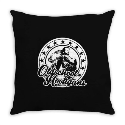 Oldschool Hooligans Throw Pillow Designed By Lyly
