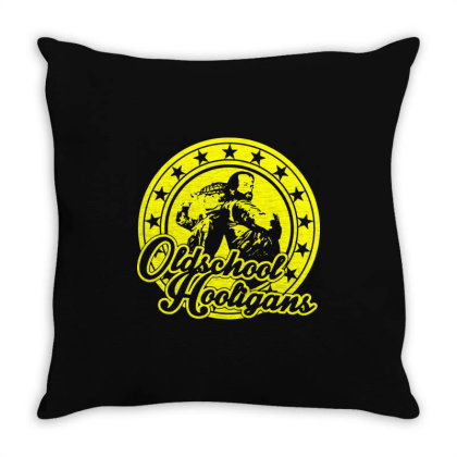 Oldschool Hooligans 2 Throw Pillow Designed By Lyly
