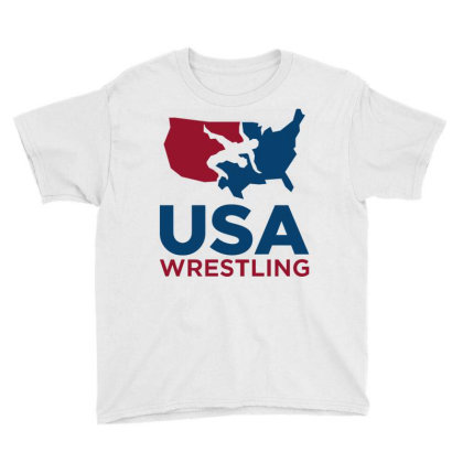 Usa Wrestling Long Sleeve Youth Tee Designed By Schulz-12