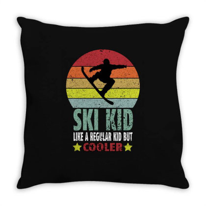 Ski Kid Like A Regular Kid But Coolers Throw Pillow Designed By Bettercallsaul
