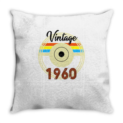 Vintage 1960 Throw Pillow Designed By Bettercallsaul