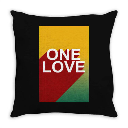 One Love Bob Marley Throw Pillow Designed By Lyly