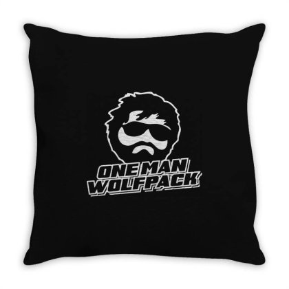 One Man Wolf Pack Throw Pillow Designed By Lyly