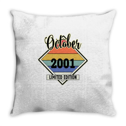 October 2001 Limited Edition Throw Pillow Designed By Bettercallsaul