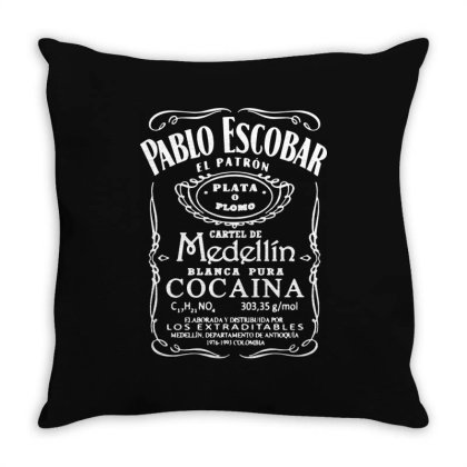 Pablo Escobar Throw Pillow Designed By Lyly