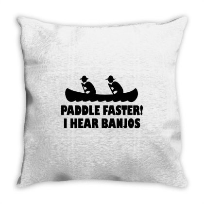 Paddle Faster I Hear Banjos 1 Throw Pillow Designed By Lyly