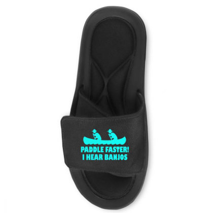 Paddle Faster I Hear Banjos 2 Slide Sandal Designed By Lyly