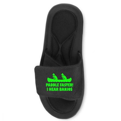 Paddle Faster I Hear Banjos 3 Slide Sandal Designed By Lyly