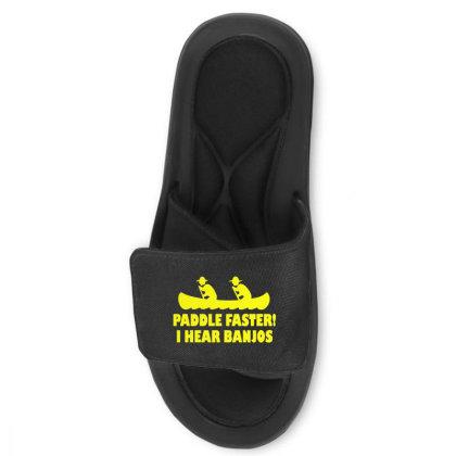 Paddle Faster I Hear Banjos 4 Slide Sandal Designed By Lyly
