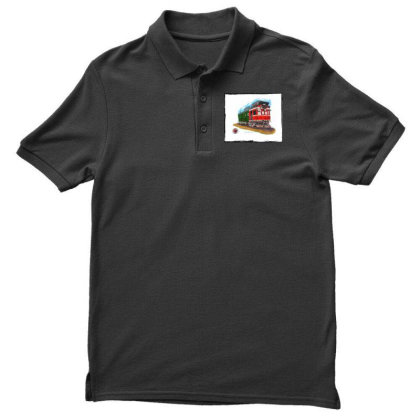 Np Railcar Men's Polo Shirt Designed By Old Mill Studio