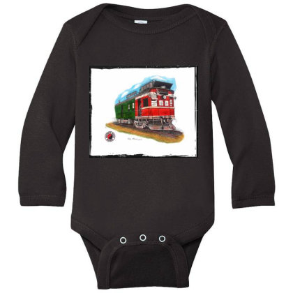 Np Railcar Long Sleeve Baby Bodysuit Designed By Old Mill Studio