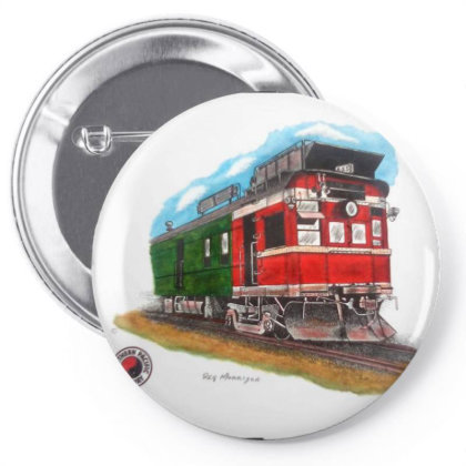 Np Railcar Pin-back Button Designed By Old Mill Studio