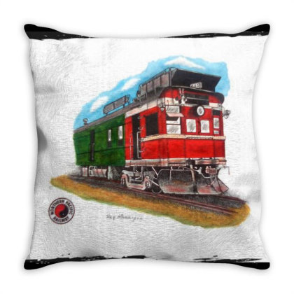 Np Railcar Throw Pillow Designed By Old Mill Studio