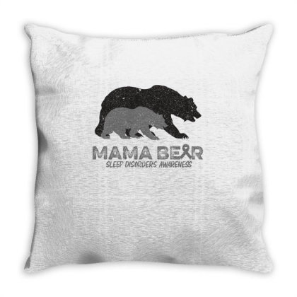 Mama Bear Sleep Disorders Awareness Throw Pillow Designed By Bettercallsaul