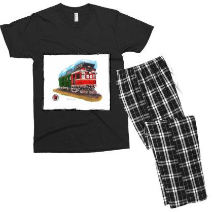 Np Railcar Men's T-shirt Pajama Set Designed By Old Mill Studio