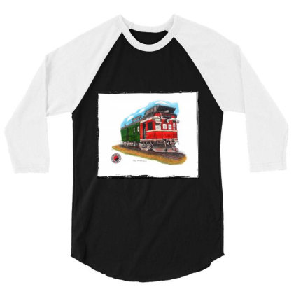 Np Railcar 3/4 Sleeve Shirt Designed By Old Mill Studio