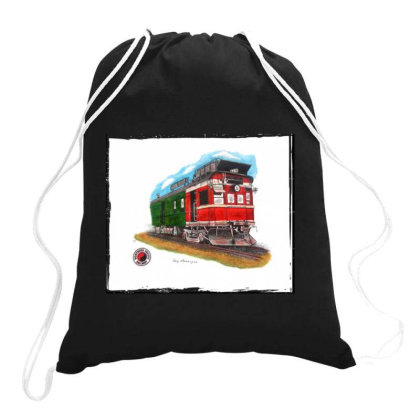 Np Railcar Drawstring Bags Designed By Old Mill Studio