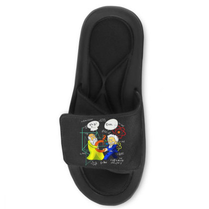 Pythagoras And Einstein Funny Science Slide Sandal Designed By Mrt90
