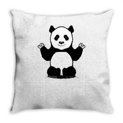 Panda Yoga Throw Pillow Designed By Lyly