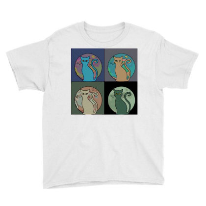 Cat Moon Youth Tee Designed By Chiks