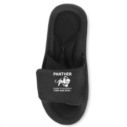 Panther Power To The People Then And Now Funny Slide Sandal Designed By Lyly