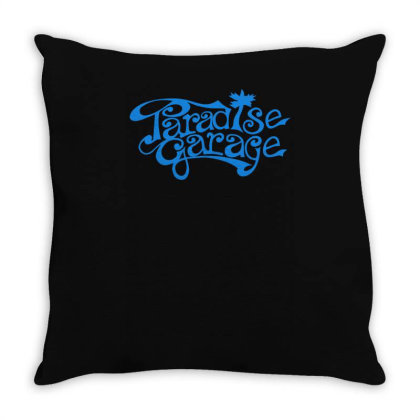 Paradise Garage Sign Throw Pillow Designed By Lyly