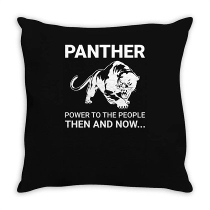 Panther Power To The People Then And Now Funny Throw Pillow Designed By Lyly