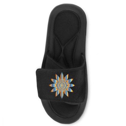 Colorful Vintage Mandala Flower Slide Sandal Designed By Chiks