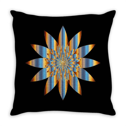 Colorful Vintage Mandala Flower Throw Pillow Designed By Chiks