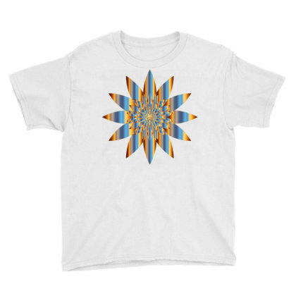 Colorful Vintage Mandala Flower Youth Tee Designed By Chiks