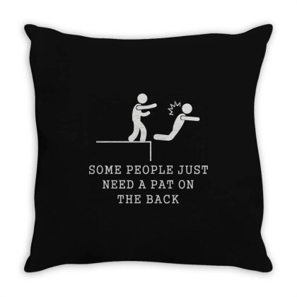 Pat On The Back Throw Pillow Designed By Lyly