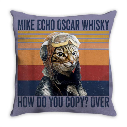 Funny Mike Echo Oscar Whisky Throw Pillow Designed By Mrt90