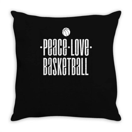 Peace Love Basketball Throw Pillow Designed By Lyly